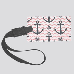 Anchors Large Luggage Tag