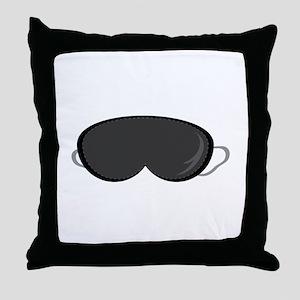 Sleeping Mask Throw Pillow
