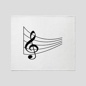 MUSIC STAFF Throw Blanket