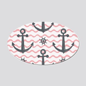 Anchors 20x12 Oval Wall Decal