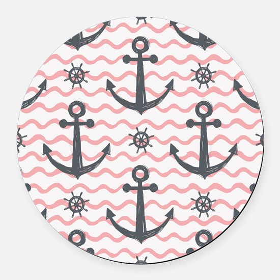 Anchors Round Car Magnet