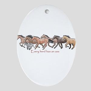 every herd has an ass Ornament (Oval)