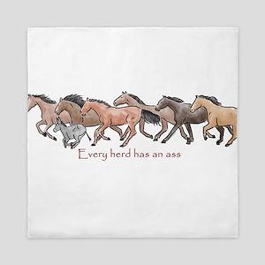 every herd has an ass Queen Duvet