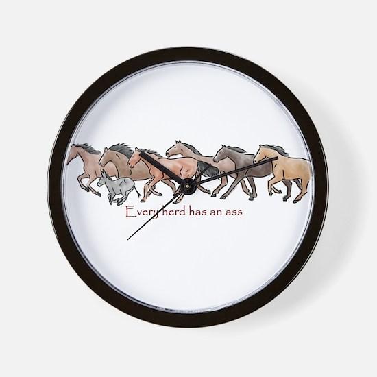 every herd has an ass Wall Clock