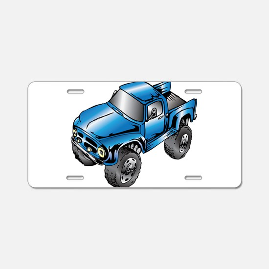 Cute Monster trucks Aluminum License Plate