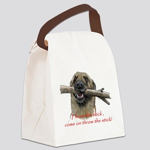 come on throw the stick Canvas Lunch Bag