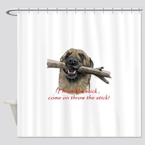 come on throw the stick Shower Curtain