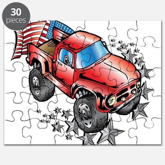 Cute Monster trucks Puzzle