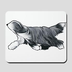 bearded collie Mousepad