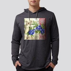 FRENCH MODERN BUTTERFLY AND BLUEBERRY Long Sleeve