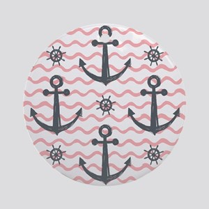 Anchors Round Ornament
