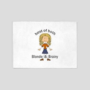 Blonde & Brainy 5'x7'Area Rug