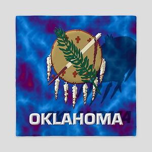 Oklahoma State Flag Queen Duvet