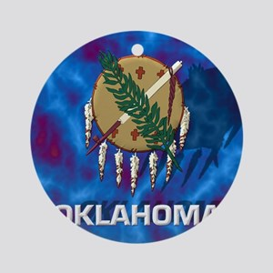 Oklahoma State Flag Round Ornament