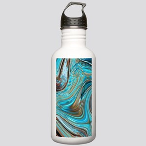rustic turquoise swirl Stainless Water Bottle 1.0L