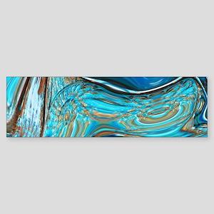 rustic turquoise swirls Bumper Sticker