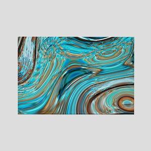 rustic turquoise swirls Magnets