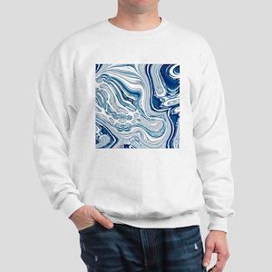 navy blue swirls Sweatshirt