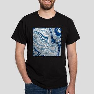 navy blue swirls T-Shirt