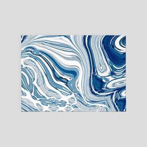navy blue swirls 5'x7'Area Rug