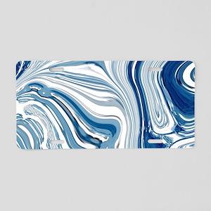 navy blue swirls Aluminum License Plate