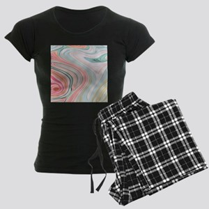 girly coral mint pattern Women's Dark Pajamas