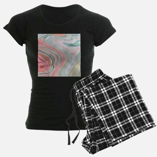 girly coral mint pattern Pajamas