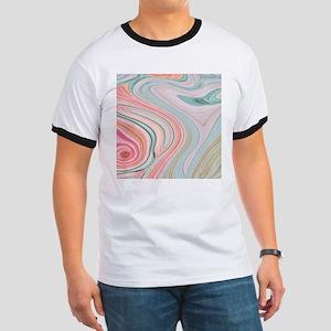 girly coral mint pattern T-Shirt