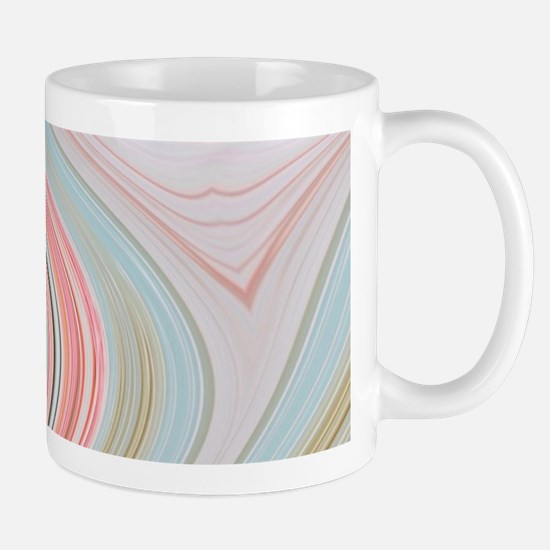 girly coral mint pattern Mugs