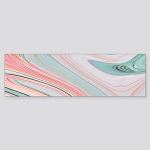 girly coral mint pattern Bumper Sticker