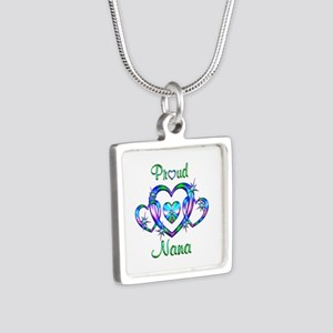 Proud Nana Silver Square Necklace