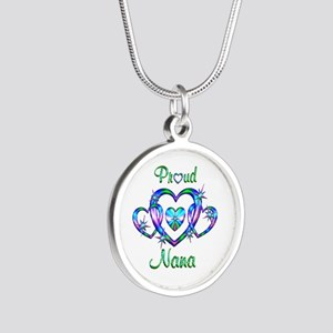 Proud Nana Silver Round Necklace