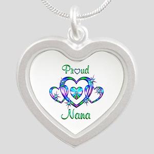 Proud Nana Silver Heart Necklace