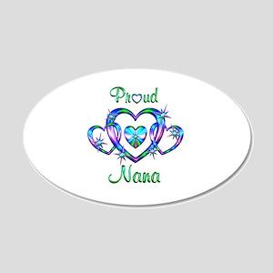 Proud Nana 20x12 Oval Wall Decal