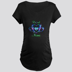 Proud Nana Maternity Dark T-Shirt