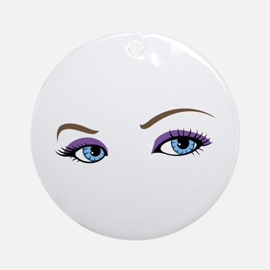 WOMANS EYES Ornament (Round)