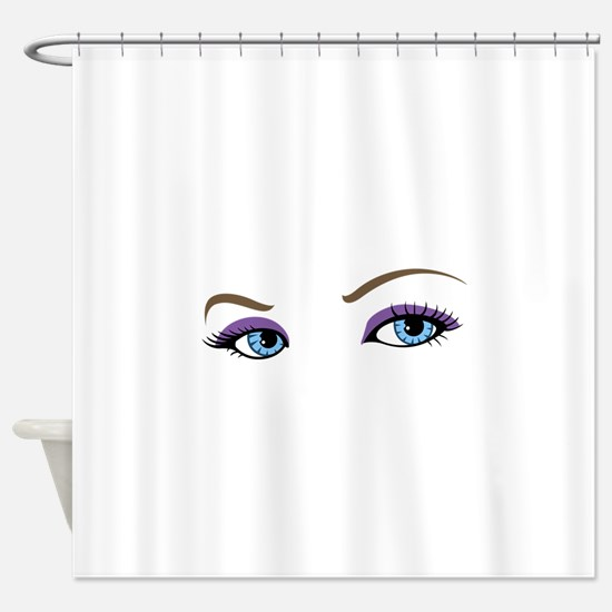 WOMANS EYES Shower Curtain