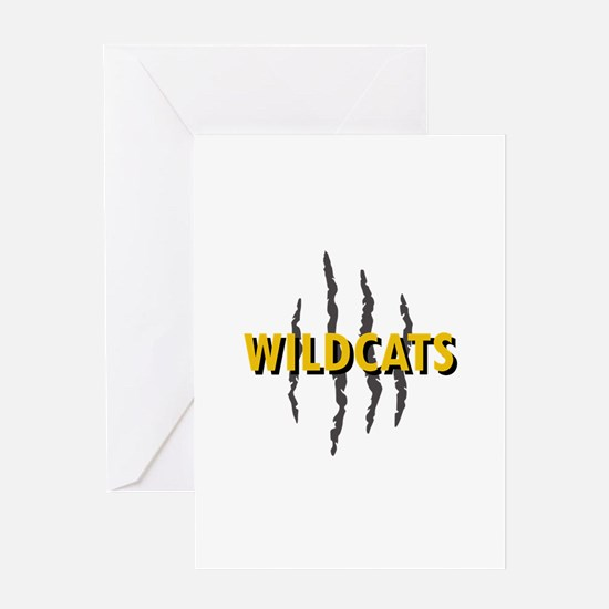 WILDCATS CLAW MARKS Greeting Cards