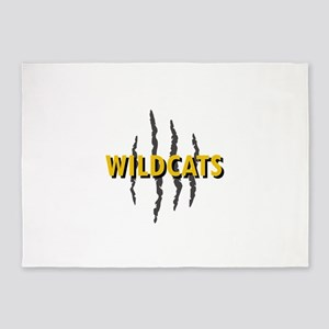 WILDCATS CLAW MARKS 5'x7'Area Rug
