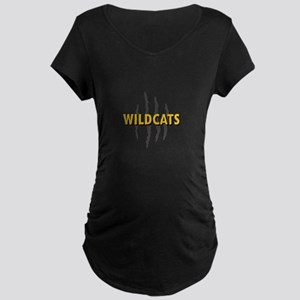 WILDCATS CLAW MARKS Maternity T-Shirt