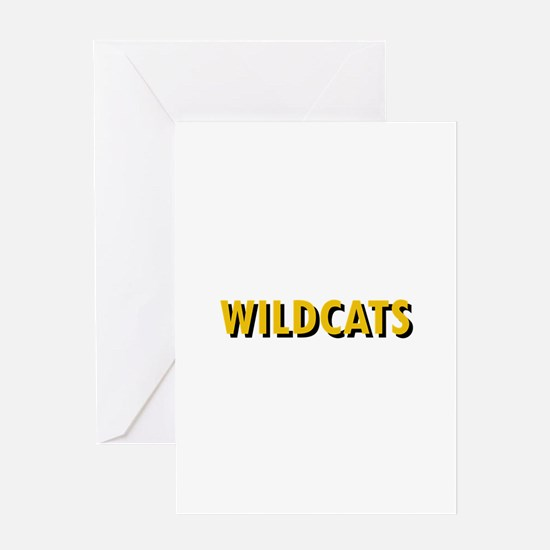 WILDCATS TEXT Greeting Cards