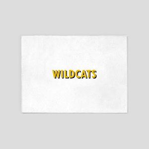 WILDCATS TEXT 5'x7'Area Rug