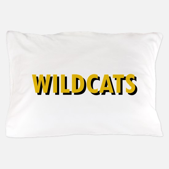 WILDCATS TEXT Pillow Case