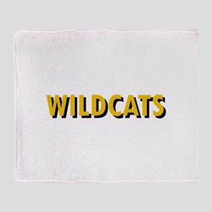 WILDCATS TEXT Throw Blanket