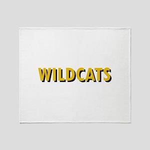WILDCATS TEXT Throw Blanket