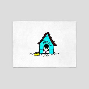 Fido Doghouse 5'x7'Area Rug