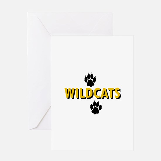 WILDCATS AND PAWS Greeting Cards