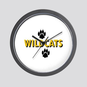 WILDCATS AND PAWS Wall Clock