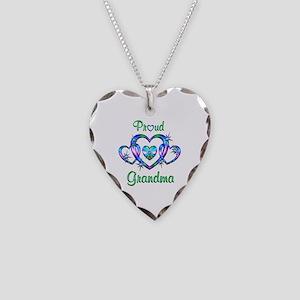 Proud Grandma Necklace Heart Charm