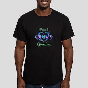 Proud Grandma Men's Fitted T-Shirt (dark)